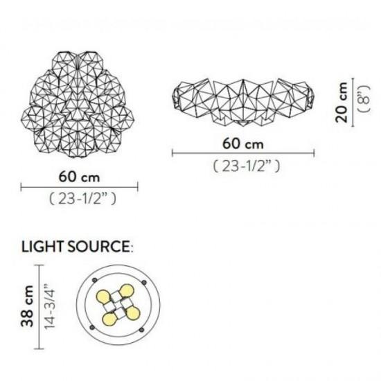 Ceiling lamp DRUSA