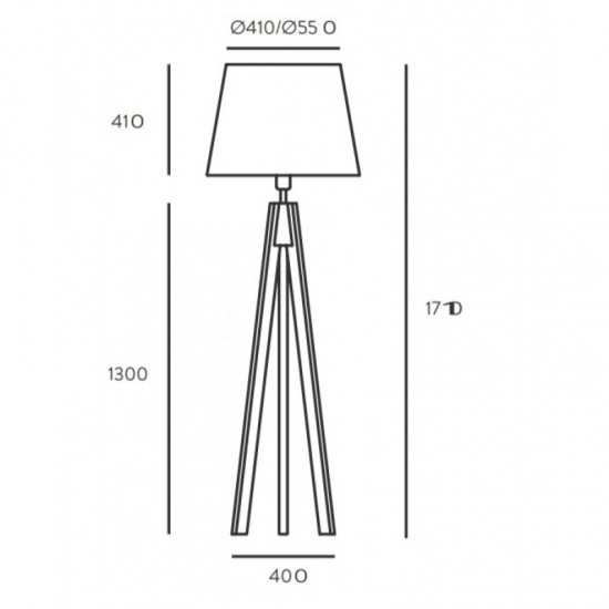 Floor lamp TRIP (shade not included)