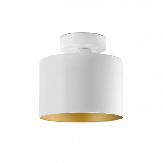 Ceiling lamp JANET Gold and white