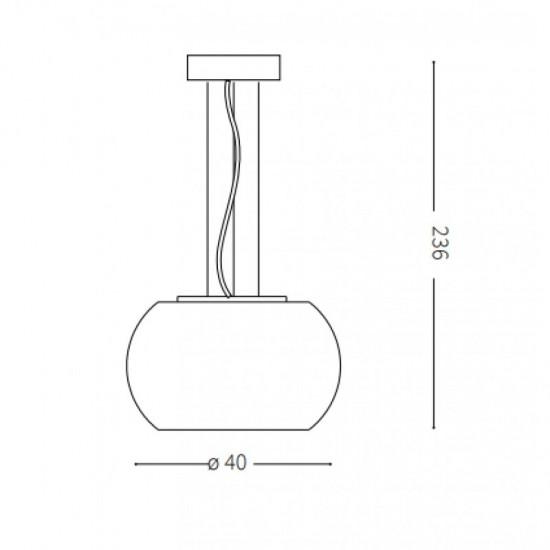 Pendant lamp - AUDI-61 SP6 Ø 40 сm